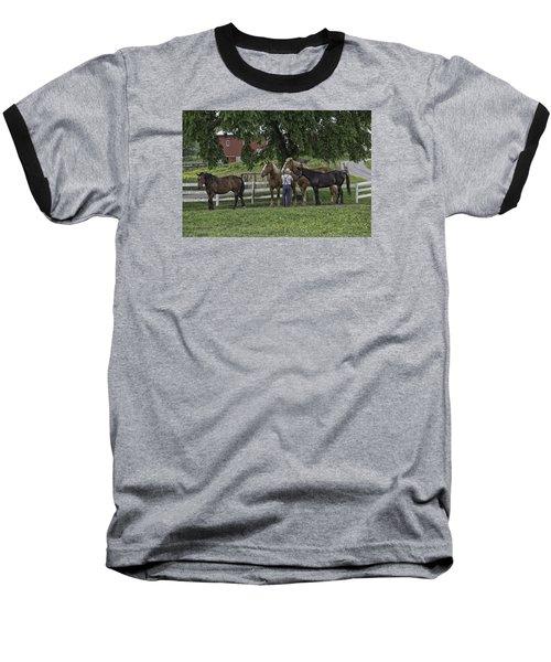 Time To Work Baseball T-Shirt by Elizabeth Eldridge