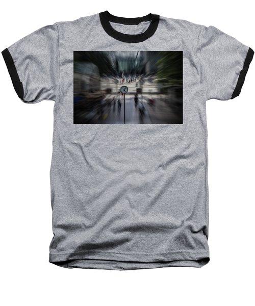 Time Traveller Baseball T-Shirt by Martin Newman