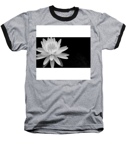 Black And White -timeless Lily Baseball T-Shirt