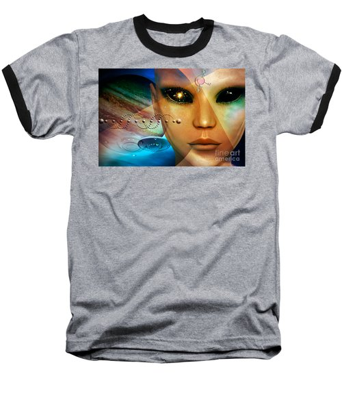 Baseball T-Shirt featuring the digital art Timeless Traveller by Shadowlea Is