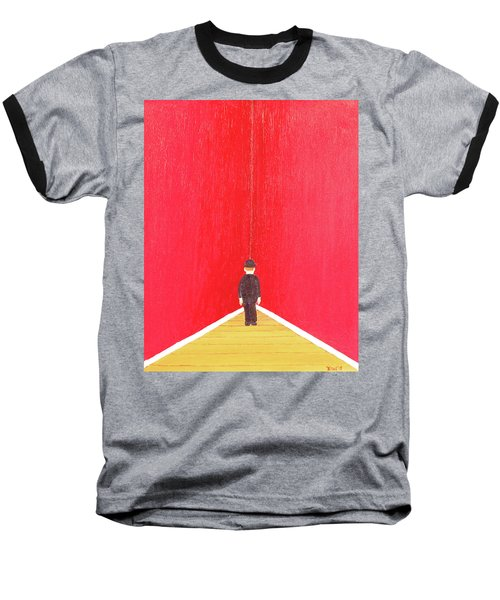 Baseball T-Shirt featuring the painting Timeout by Thomas Blood