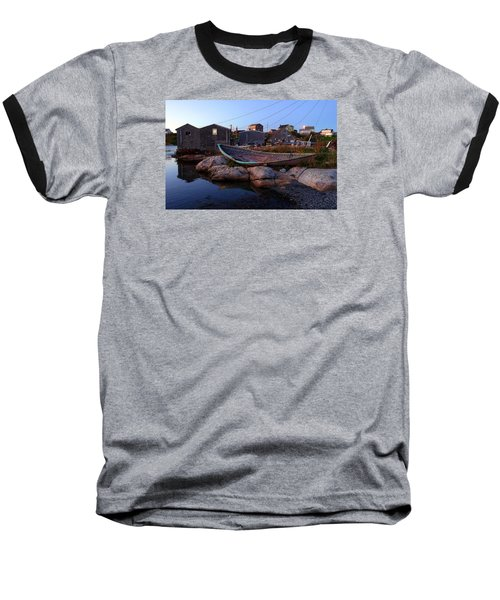 Peggy's Cove, Nova Scotia Baseball T-Shirt by Heather Vopni