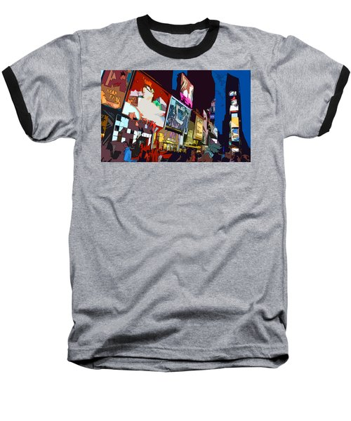 Baseball T-Shirt featuring the photograph Times Square by Christopher Woods