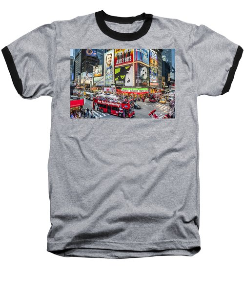 Times Square II Baseball T-Shirt