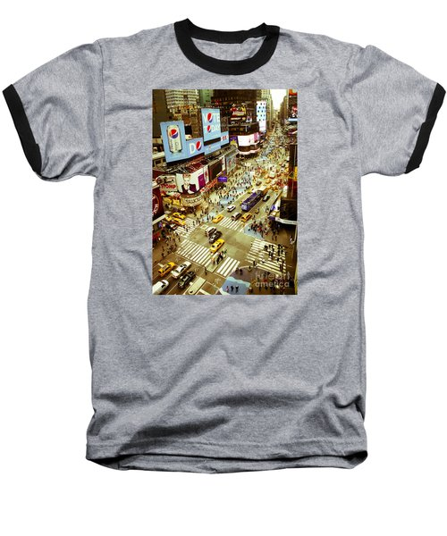 Times Square Traffic Baseball T-Shirt by Perry Van Munster