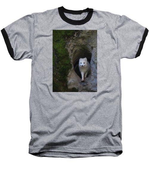 Timidly Baseball T-Shirt by I'ina Van Lawick