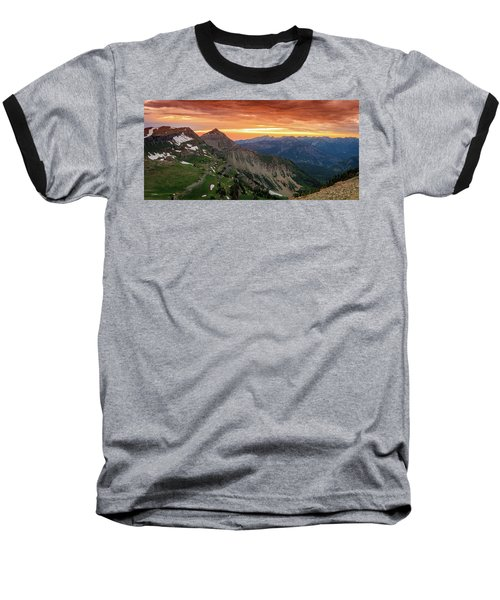 Timp Sunset Panorama Baseball T-Shirt
