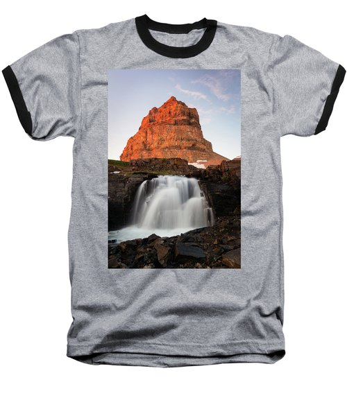 Timpanogos Waterfall Baseball T-Shirt