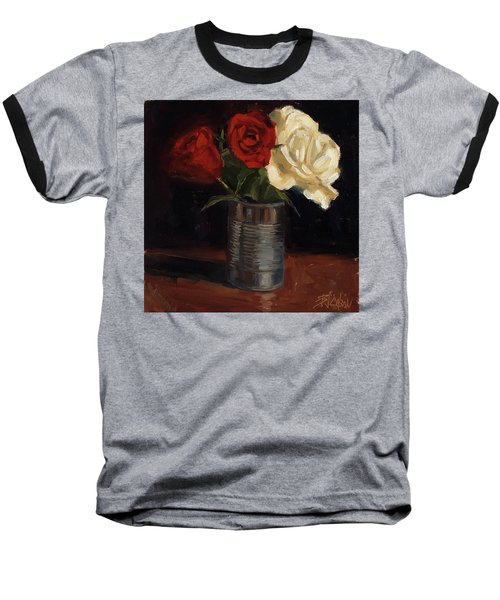 Baseball T-Shirt featuring the painting Tin Can Love by Billie Colson