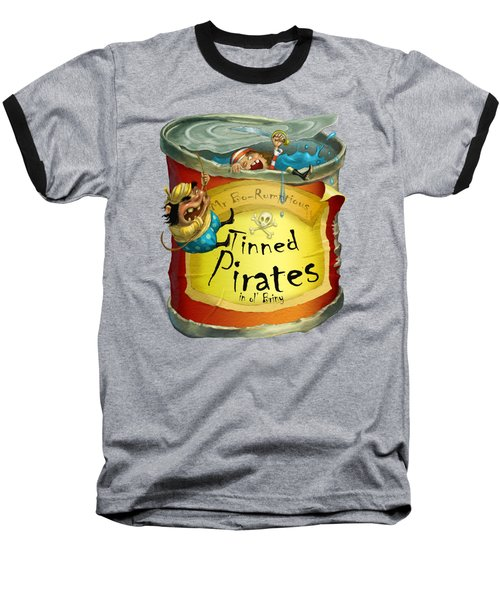 Tinned Pirates Baseball T-Shirt by Andy Catling