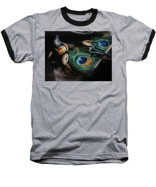 Tinsel Rust Nymph Baseball T-Shirt by Jeffrey Jensen