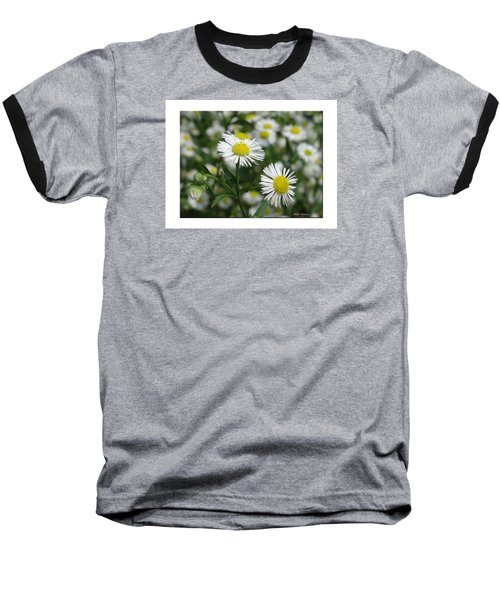 Tiny Flowers Baseball T-Shirt by Mikki Cucuzzo