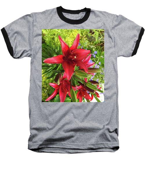 Tiny Ghost Asiatic Lilly Baseball T-Shirt