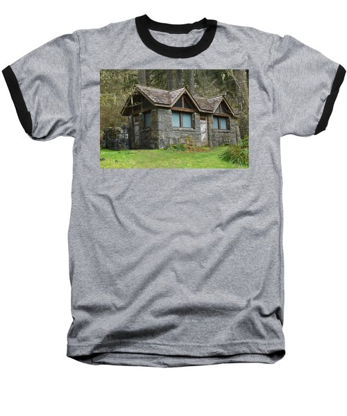 Baseball T-Shirt featuring the photograph Tiny House In The Woods by Angi Parks