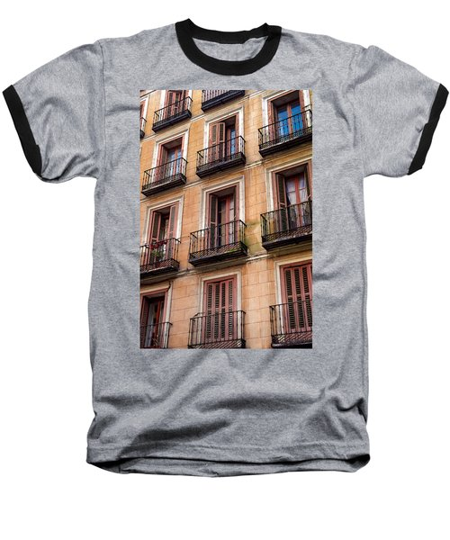 Tiny Iron Balconies Baseball T-Shirt