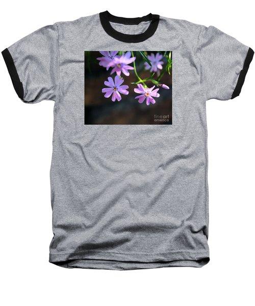 Tiny Pink Flowers Baseball T-Shirt by John S