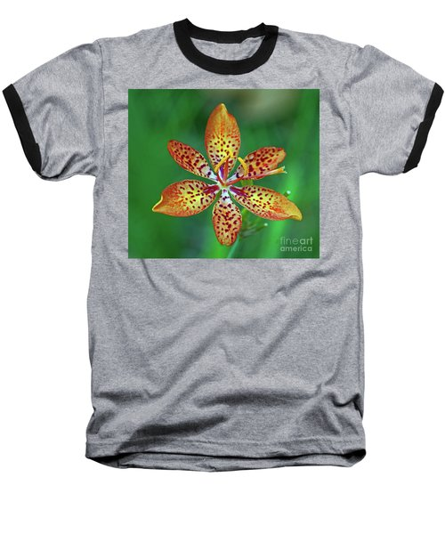 Tiny Tropical Lily Baseball T-Shirt