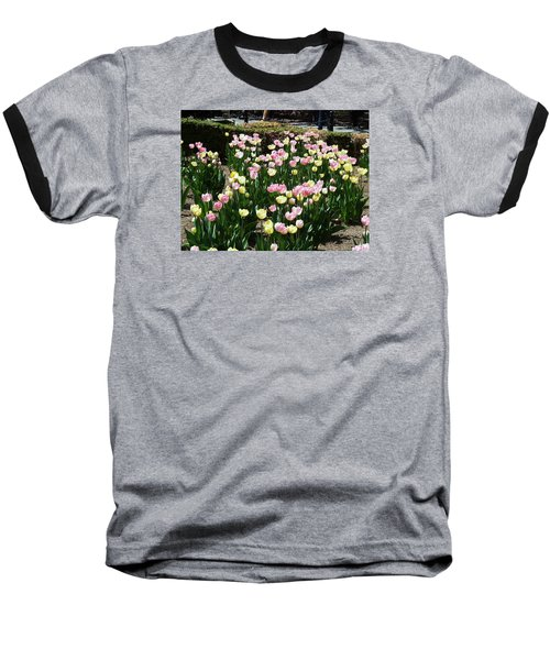 Baseball T-Shirt featuring the photograph Tiptoe Through The Tulips by Helen Haw