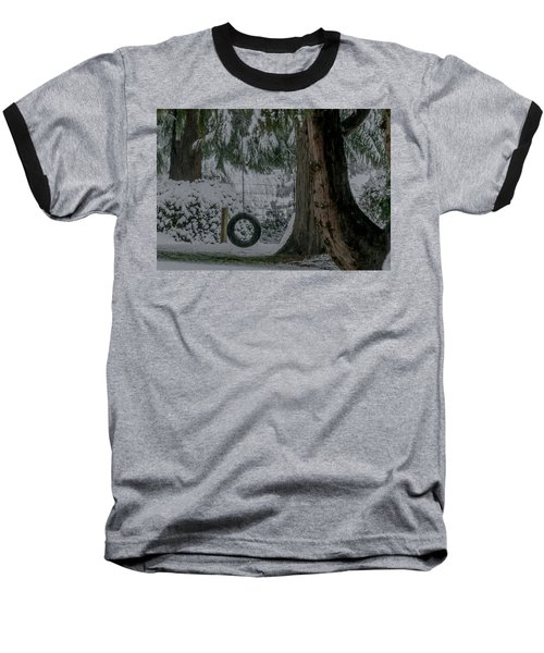 Tire Swing In Winter Baseball T-Shirt