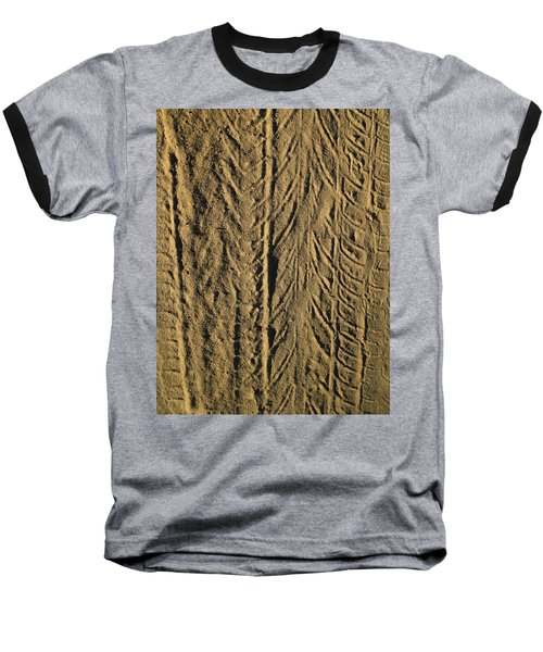 Tire Tracks Baseball T-Shirt