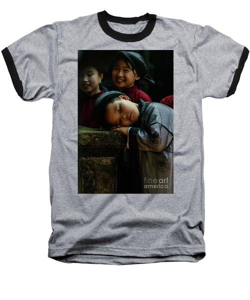 Tired Actor Baseball T-Shirt by Werner Padarin