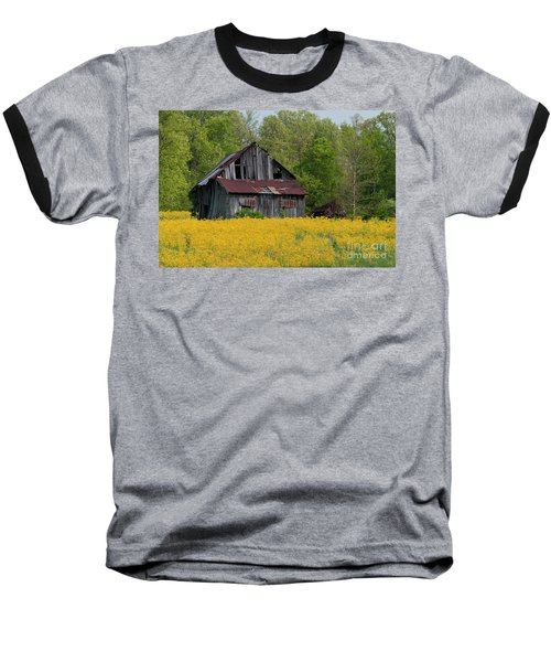 Baseball T-Shirt featuring the photograph Tired Indiana Barn - D010095 by Daniel Dempster