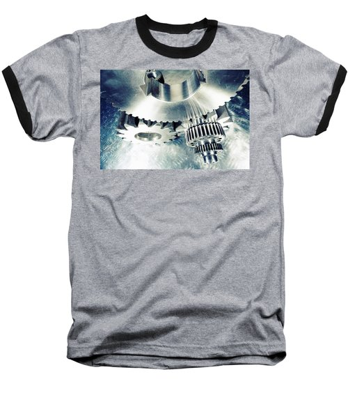 Baseball T-Shirt featuring the photograph Titanium Aerospace Cogs And Gears by Christian Lagereek