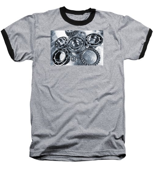 Titanium And Steel Ball-bearings Baseball T-Shirt by Christian Lagereek