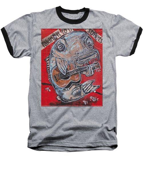 Blues Cat Baseball T-Shirt