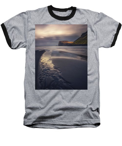Tjornuvik Beach Baseball T-Shirt