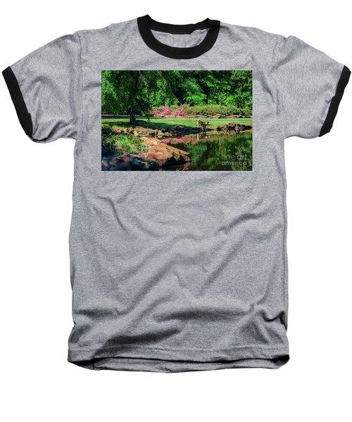 Taking A Break At The Azalea Pond Baseball T-Shirt by Tamyra Ayles