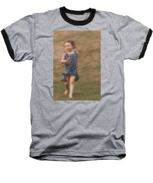 To Be Free Baseball T-Shirt by The Art Of Marilyn Ridoutt-Greene
