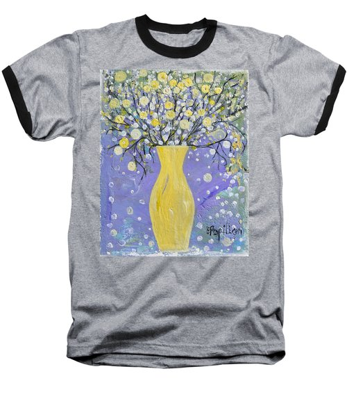 To Brighten Your Evening Baseball T-Shirt by Evelina Popilian