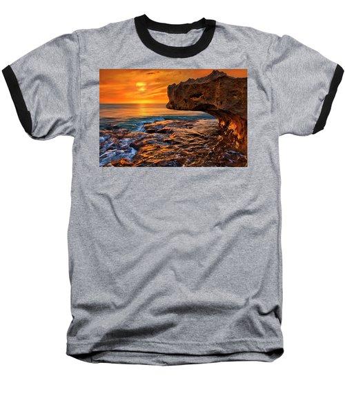 To God Be The Glory - Sunrise Over Ocean Reef Park On Singer Island Florida Baseball T-Shirt