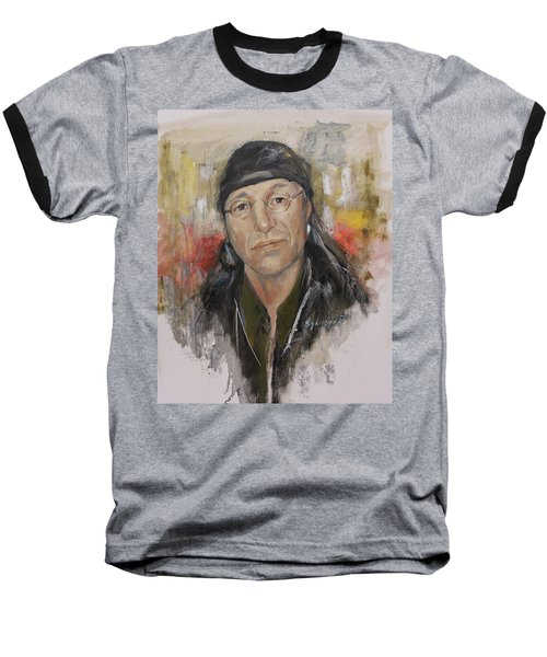 To Honor John Trudell Baseball T-Shirt by Synnove Pettersen