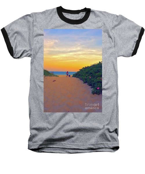 To The Beach Baseball T-Shirt by Todd Breitling