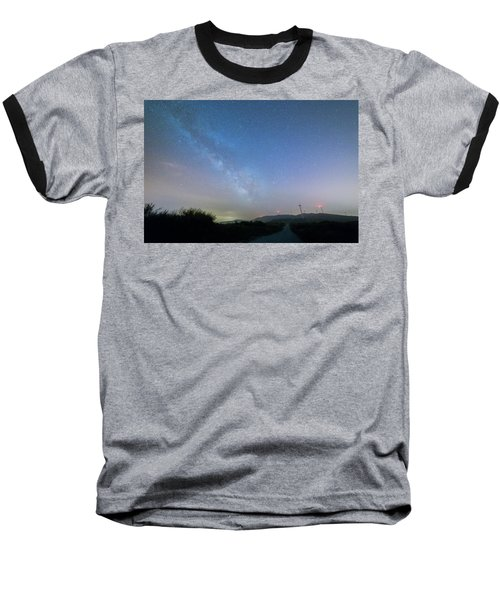 Baseball T-Shirt featuring the photograph To The Left by Bruno Rosa