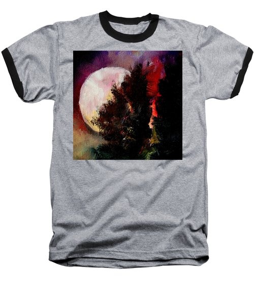 To The Moon And Back Baseball T-Shirt by Michele Carter