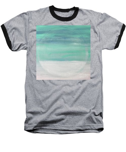 Baseball T-Shirt featuring the painting To The Moon by Kim Nelson