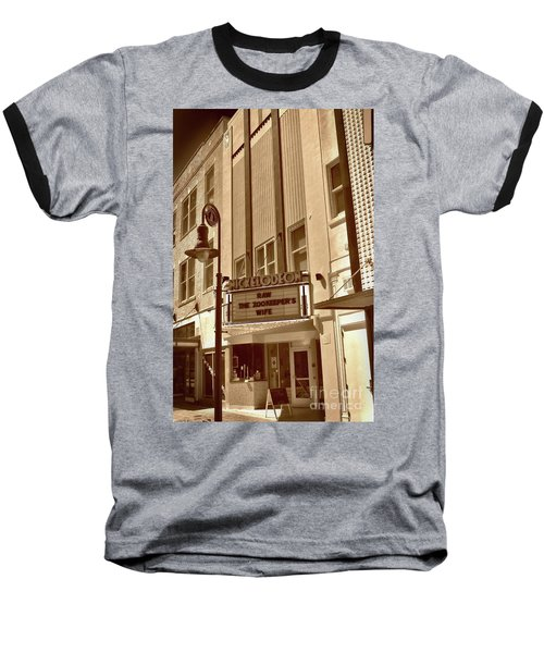 Baseball T-Shirt featuring the photograph To The Movies by Skip Willits