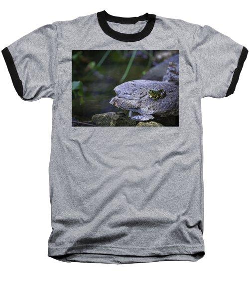 Toading It Up Baseball T-Shirt by Jason Moynihan