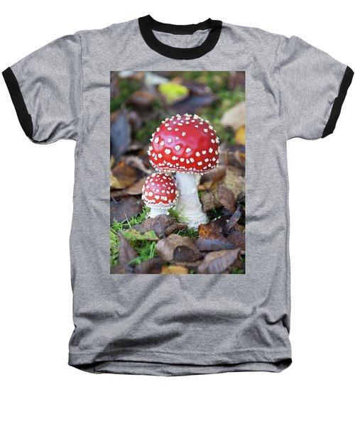 Toadstools In The Woods Vi Baseball T-Shirt