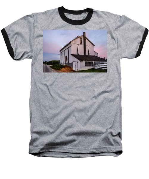 Tobacco Barn At Dusk Baseball T-Shirt