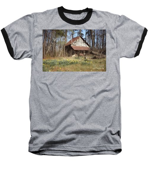 Baseball T-Shirt featuring the photograph Tobacco Barn In Spring by Benanne Stiens