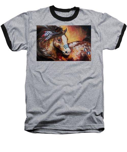 Tobiano Indian War Horse Baseball T-Shirt
