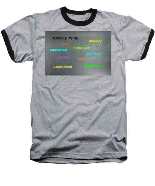 Today's Menu #2 Baseball T-Shirt