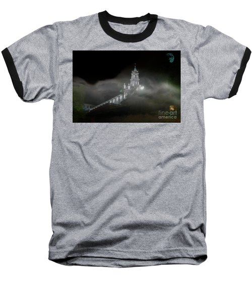 Baseball T-Shirt featuring the photograph Todos Santos In The Fog by Al Bourassa