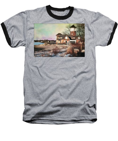 Tod's Point Beach House Baseball T-Shirt by Diana Angstadt