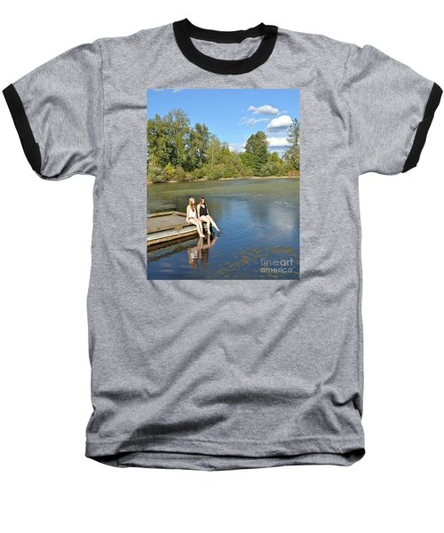Toes In The Water Baseball T-Shirt by Mindy Bench