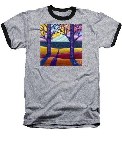 Baseball T-Shirt featuring the painting Together Forever by Carla Bank